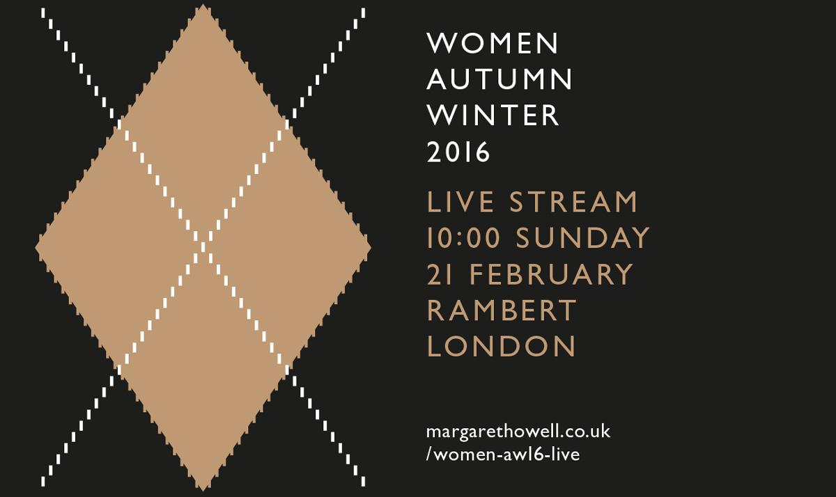 WOMEN'S AUTUMN WINTER 2016 LIVE STREAM